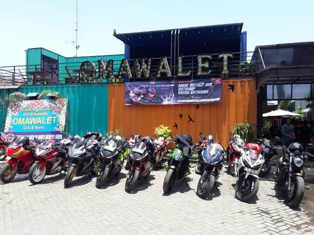 Nobar MotoGP Kediri...Komunitas CBR Rayakan Kemenangan Marquez