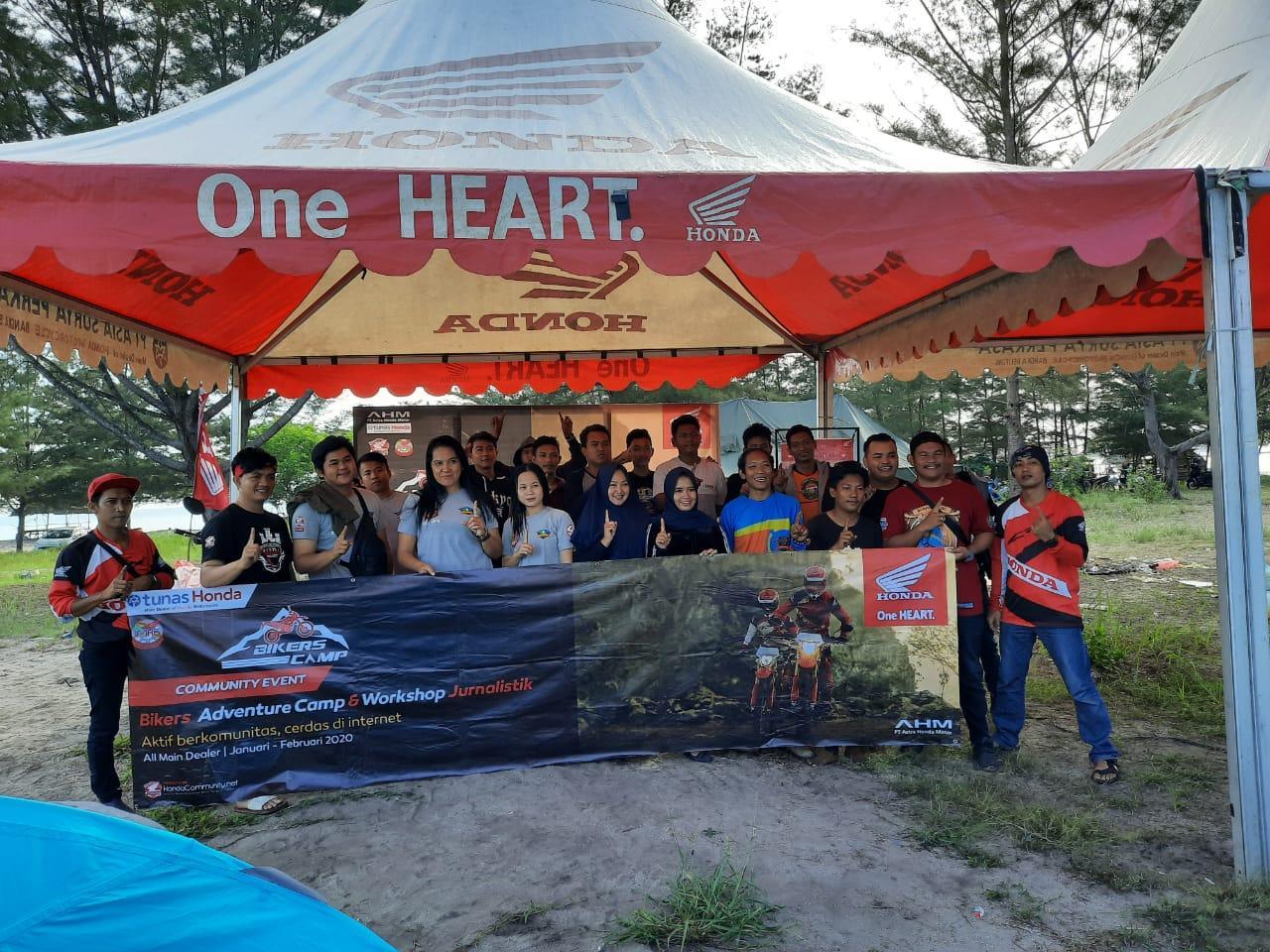 Gelar Bikers Camp dan Workshop Jurnalistik, PT Asia Surya Perkasa Rangkul Komunitas Motor Honda