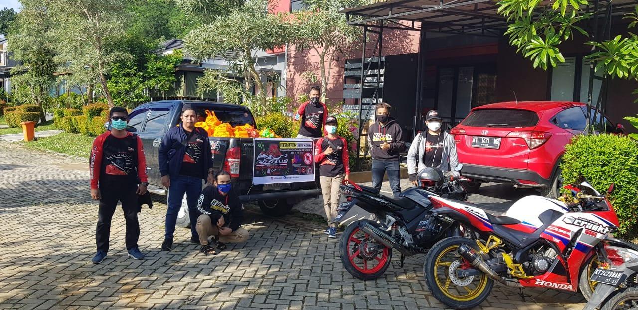 Semangat Satu hati, CBR Club Indonesia Region Samarinda melakukan kegiatan Community Sosial Responsi