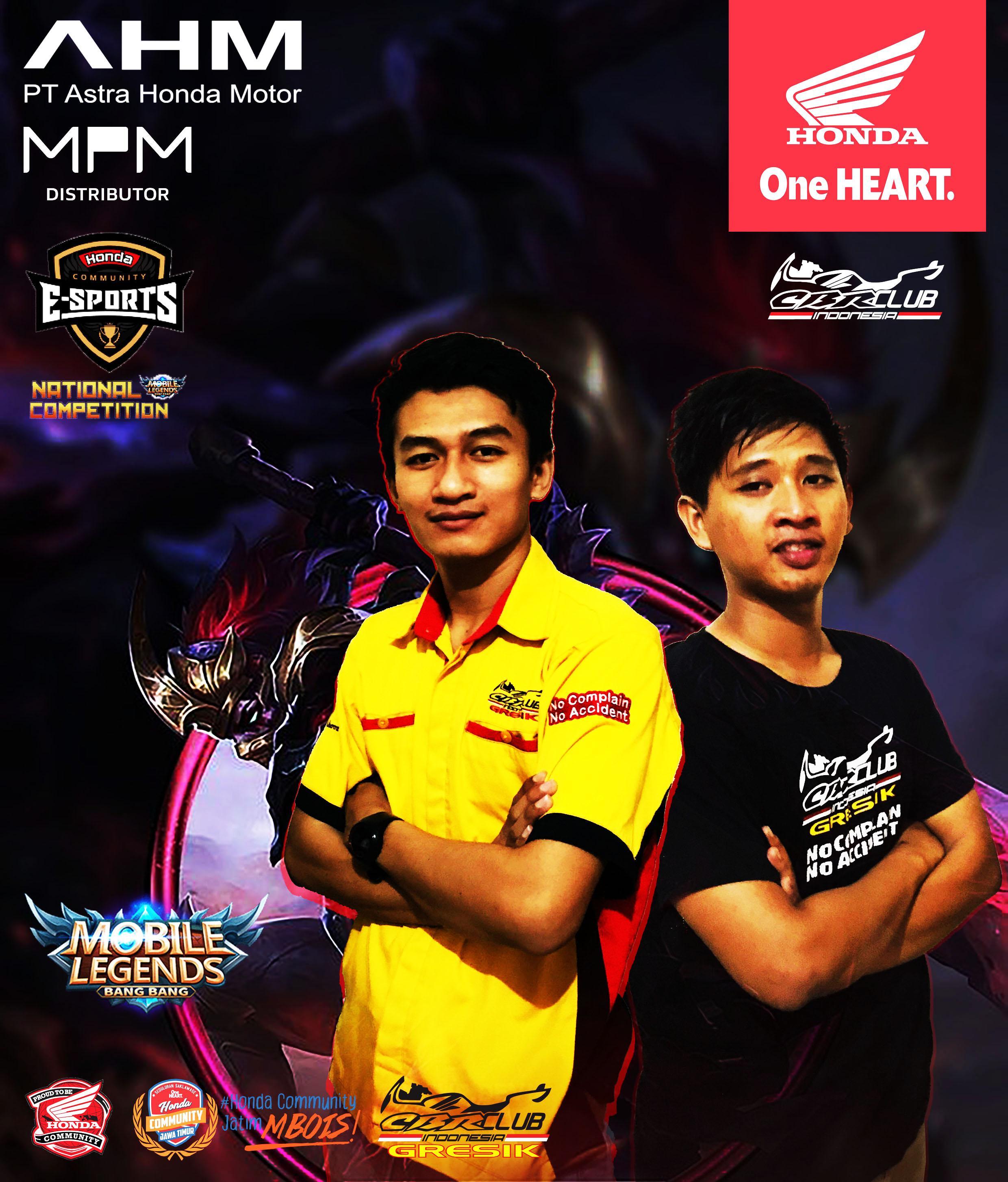 CCI Pengda Jatim Loloskan 2 Player Ke Honda Community Esport National Competition