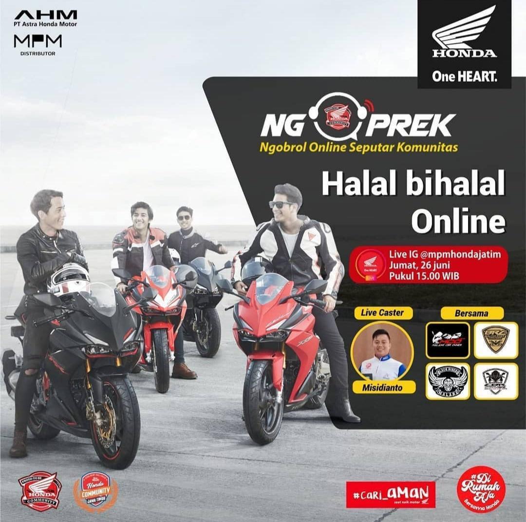 Halal Bihalal Online Klub CBR250RR  Malang Raya-Blitar Dalam Ngoprek