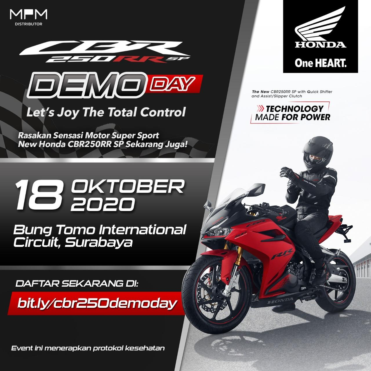 Rasakan Sensasi Berkendara New Honda CBR250RR SP Quick Shifter Di Sirkuit Pada CBR250RR SP Demoday
