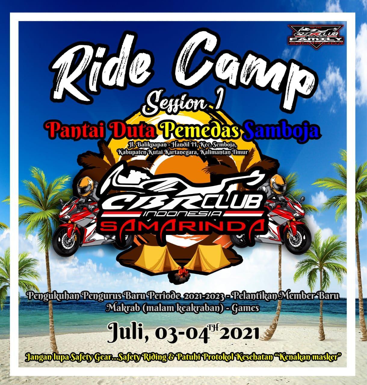 CBR Club Indonesia Region Samarinda Ride Camp
