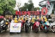 Tiga Klub Anggota AHC Tuntaskan Misi Riding To Kilometer 0 Indonesia