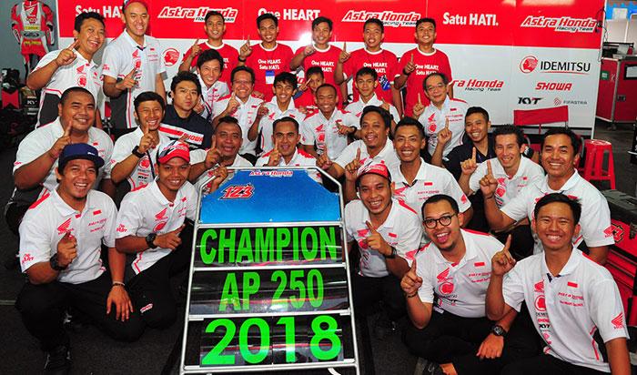 Astra Honda Racing Team Lanjutkan Dominasi di Asia: Rheza Danica Juara Baru Kelas AP250
