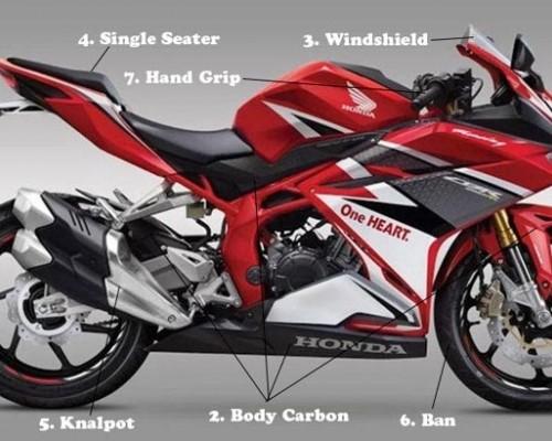 Mudah Sekali Bikin Gahar Tampilan Honda CBR250RR, Cukup Ganti ini