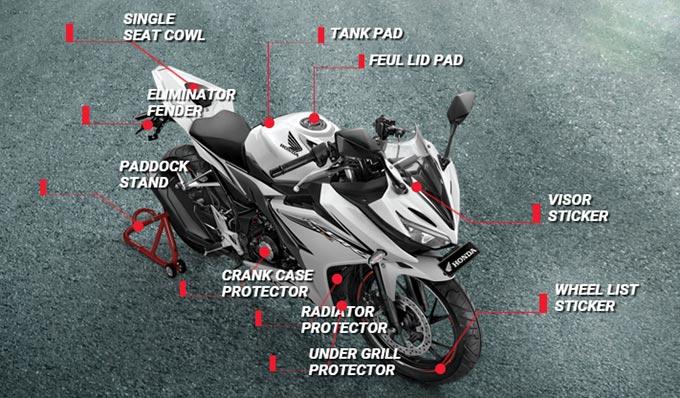 10 Macam Aksesoris All New Honda CBR 150R, Ini Harganya