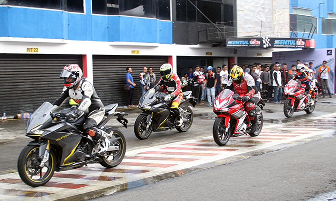 Tiga Main Dealer Ajak Komunitas Honda CBR Coba All New Honda CBR250RR di Sirkuit Sentul