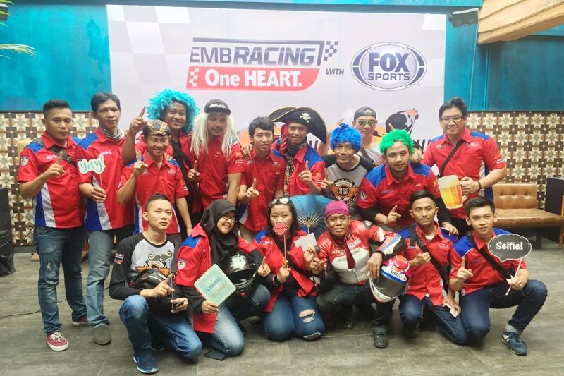 Komunitas Bikers CBR Ramaikan Nobar MotoGP Dukung Tim Balap Honda