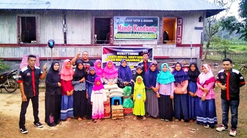Komunitas Honda CBR Bukittinggi Baksos di Rumah Yatim & Dhuafa Mande Kanduang