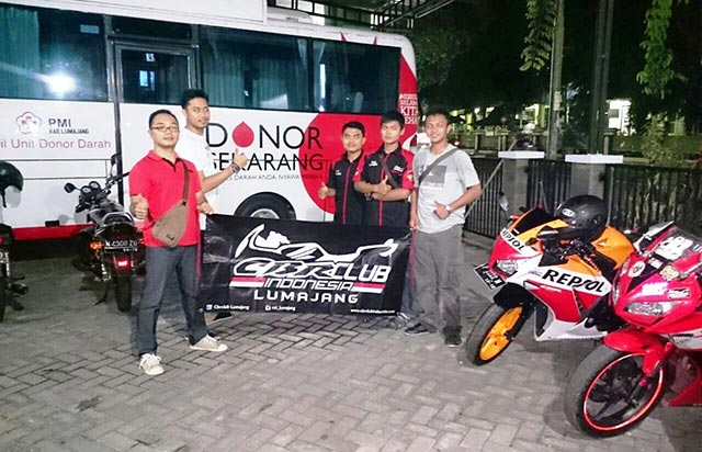 CBR Club Indonesia (CCI) Region Lumajang Support Donor Darah PMI