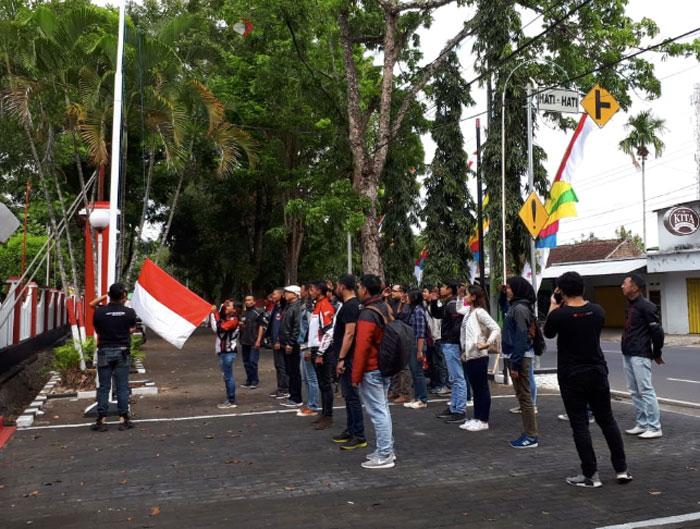 Kemeriahan Jember Honda CBR Owner Indonesia Rayakan HUT RI di Gunung Pasang