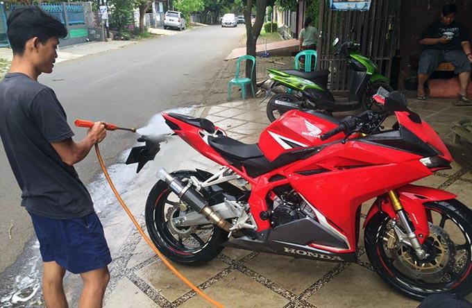Cuci Motor All New Honda CBR250RR, Perhatikan Hal Ini