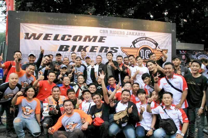 Ratusan Biker CBR Ramaikan Perayaan Satu Dekade CBR Riders Jakarta