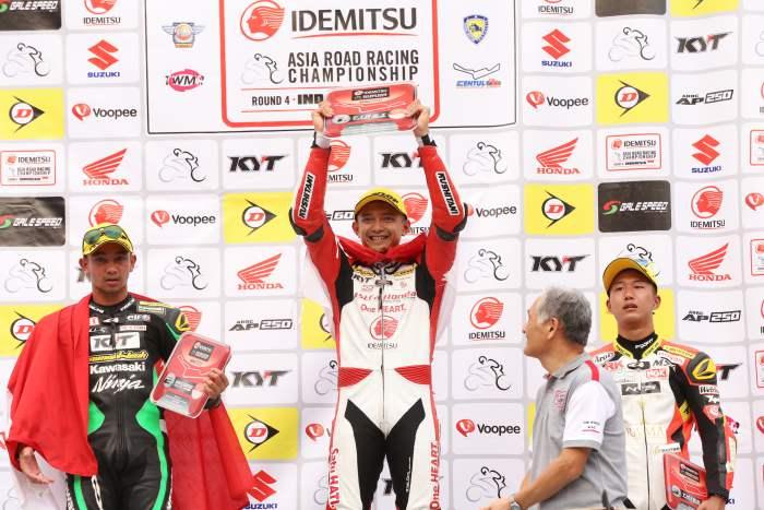 Dimas Ekky Pratama Pacu Honda CBR600R Juarai Race 1 Supersport 600 ARRC Sentul