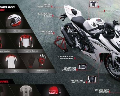 Harga Aksesoris Resmi Honda CBR150R