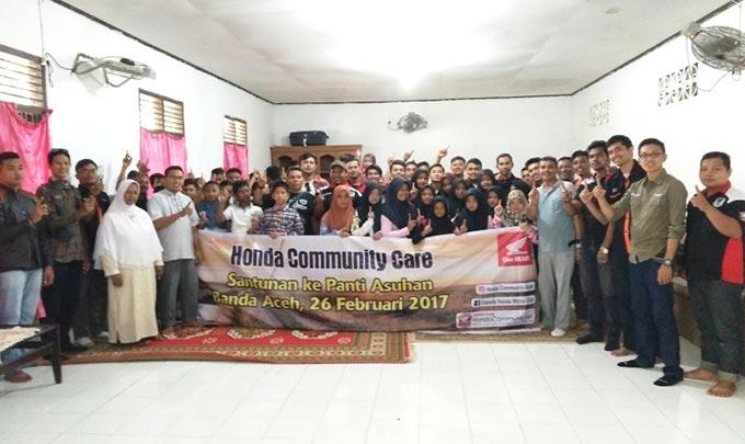 Honda Bikers Banda Aceh Gelar Sunmori dan Baksos di Panti Asuhan