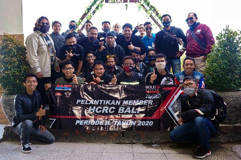 HCRC Bali Lantik Member Periode II 2020 Dengan Pembekalan Safety Riding