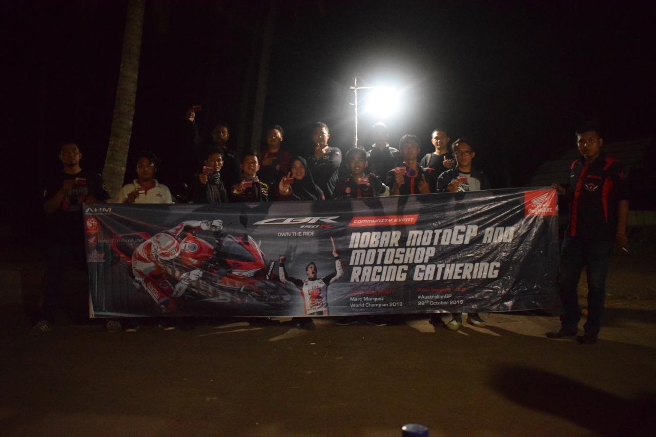 Kopdar Seru CBR Riders Owner Serang Sambil Nobar MotoGP