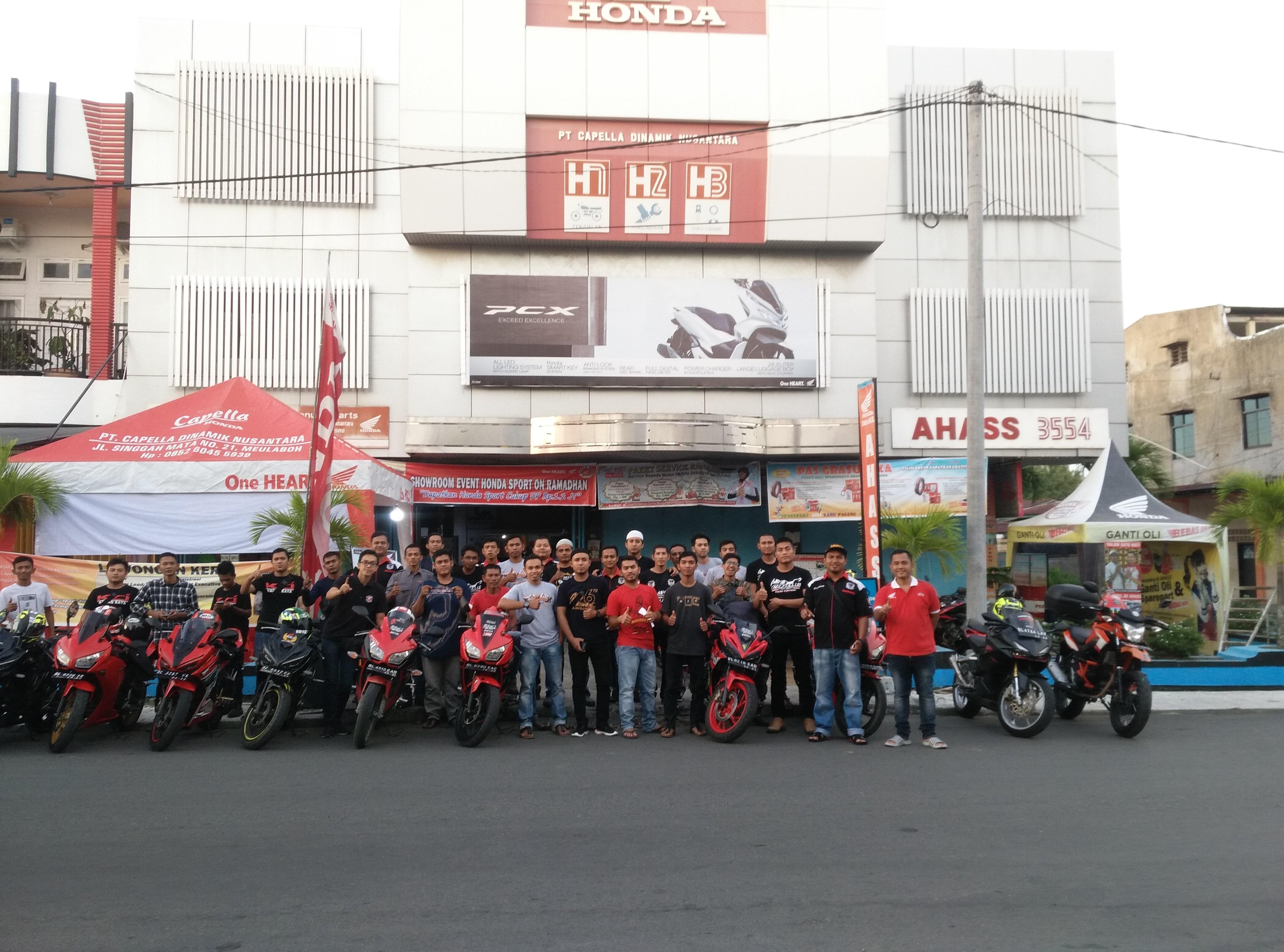 Honda Capella Aceh Gelar Acara Buka Puasa Bersama Kumunitas Honda Meulaboh