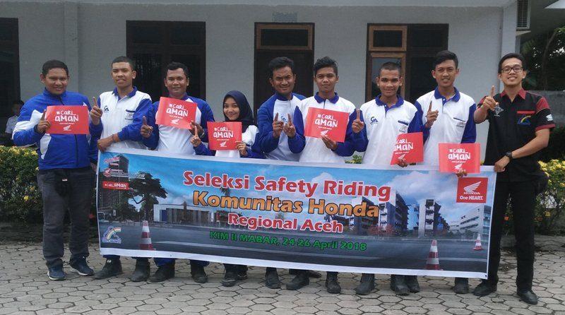 Capellla Honda Aceh Gelar Seleksi Safety Riding