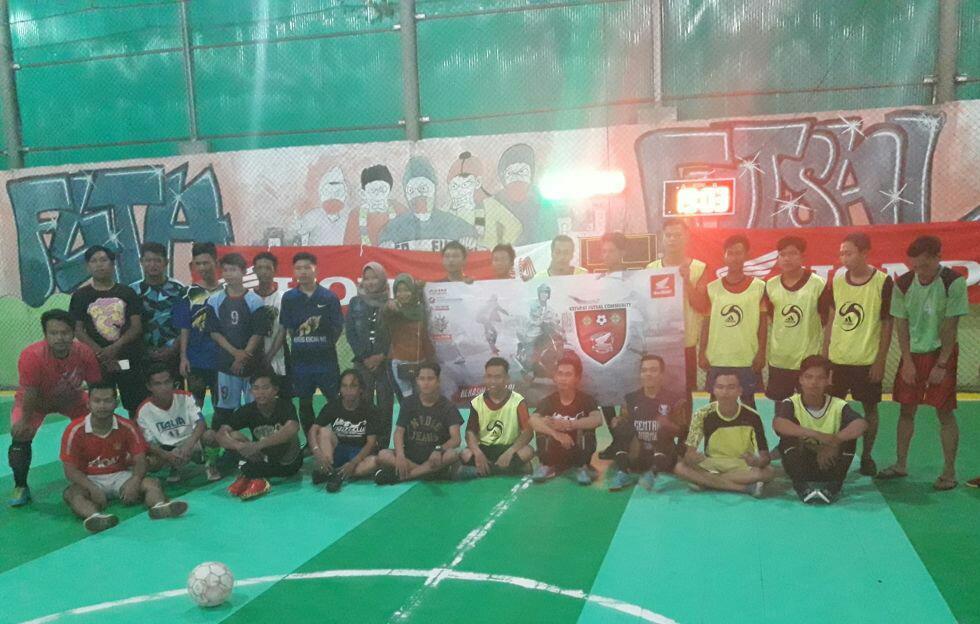 Mengintip Event Seru Turnamen Futsal Antar Komunitas Honda di Kapuas