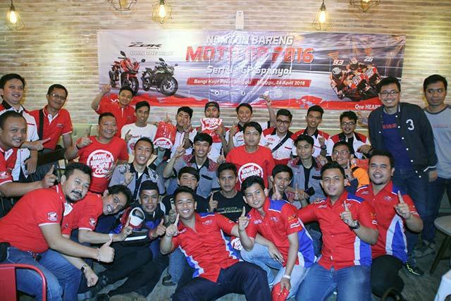 Komunitas Honda CBR Jakarta dan Tangerang Ramaikan Nobar MotoGP Seri Jerez