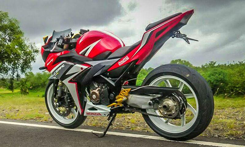 Modifikasi Honda CBR150R, Makin Kekar Dengan Kaki-Kaki Limbah Moge