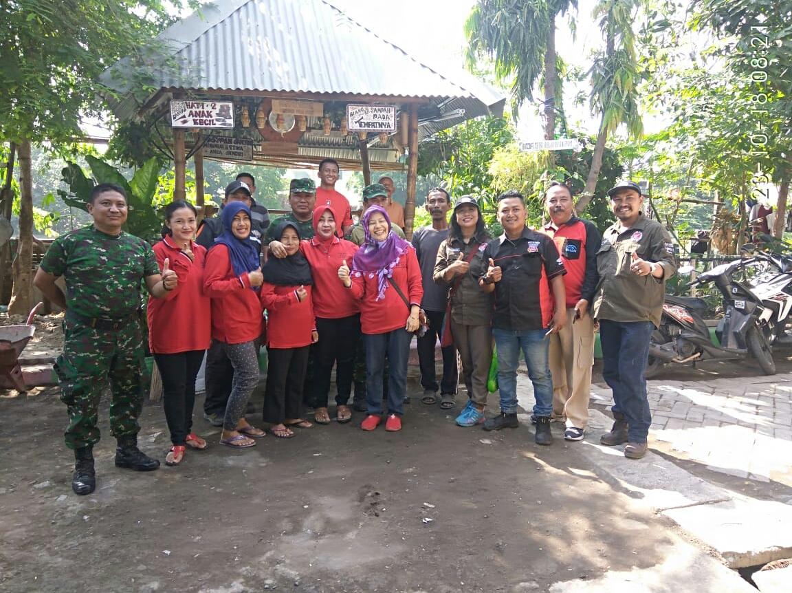 Surabaya Honda Community Kerjabakti Bareng TNI, Serunya...