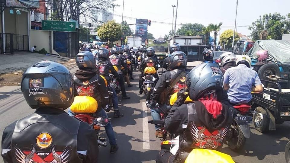 Komunitas Honda Jabar Lepas Rombongan Turing Penyebar Undangan HBD 2018