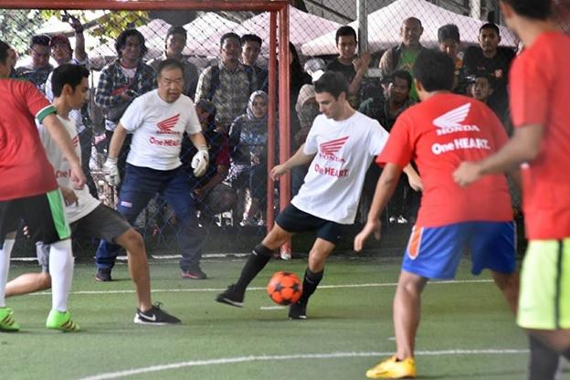 Marc Marquez dan Dani Pedrosa Bertanding Futsal Bersama Astra Honda Racing Team