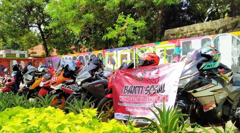 Honda CBR Tangerang Bagikan Masker dan Hand Sanitizer Ikut Cegah Penyembaran Covid-19