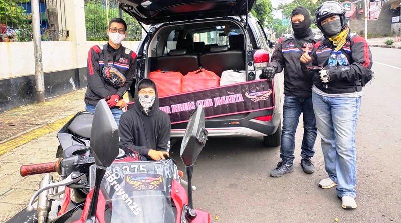 CBR Riders Club Jakarta Gelar Baksos Bagikan Takjil Buka Puasa