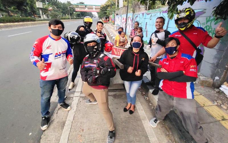 CBR Riders Club Jakarta Gelar Bakti Amaliah Sosial Keduanya Disekitar Jakarta Timur
